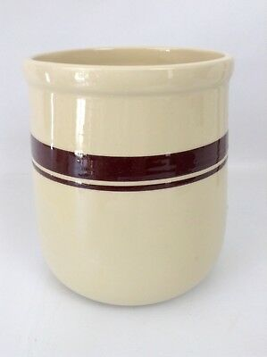 Vintage McCoy Pottery USA Brown Stripe Canister Cookie Jar *NO LID*