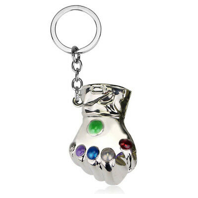 Thanos Infinity Gauntlet Keychain Keyring Metal Pendant For Hero Fan Toy Gift