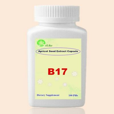 Vitamin B17 Amygdalin Organic Bitter Apricot Seed 20:1 Extract -1 Bottle/100pcs