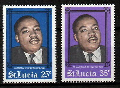 St Lucia - Martin Luther King Set of 2 MNH