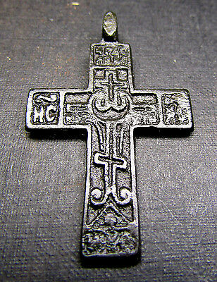 Ancient Old Christianity Bronze Cross.