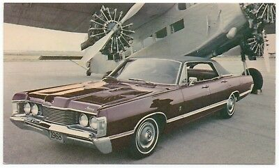 1968 Mercury BROUGHAM 4-Door HARDTOP Dealer Promotional NOS Postcard UNUSED VG+