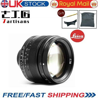 UK 7artisans 50mm F1.1 Leica M Mount Fixed Lens for Leica M-Mount Cameras Black