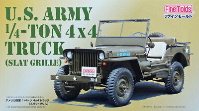 Fine Molds 82001 US Army 1/4-Ton 4x4 Truck 1:20 scale kit