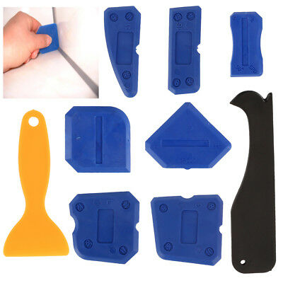 Silicone Sealant Tools Caulking Grout Profiling Kit For Bathroom Frames Seals x9