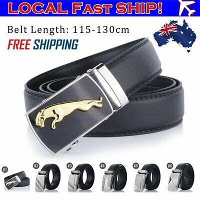 Mens Automatic Belt Buckle Leather Belts Waist Strap Waistband Business
