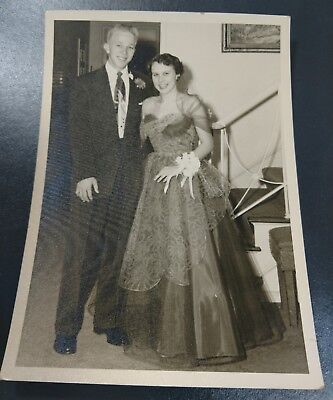 1940's 1950's Black & White Wedding Photo Vintage Print Picture Photograph SD