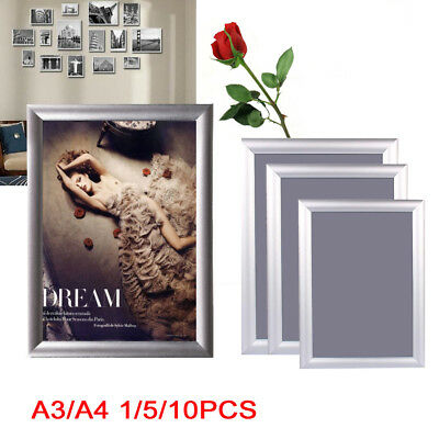 A3/A4 Snap Frames Poster Clip Holders Displays Wall Notice Boards Waterproof
