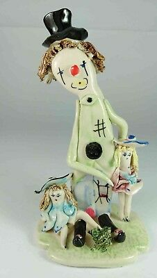 Top Hat Clown & Children Figurine