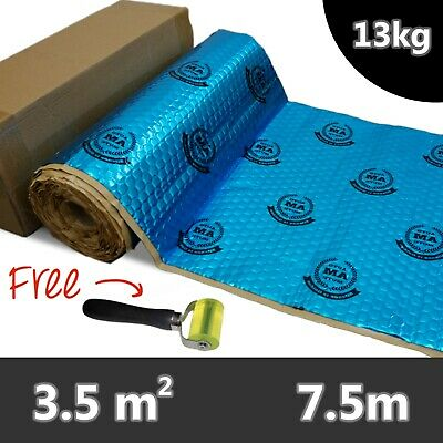 AutoMute PREMIUM 2mm 7.5m Car Van Sound Deadening Proofing Damping Mat 13kg Blue