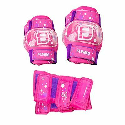 Funbee DARP-OFUN35 PinkPurple Girls Kids Activities Wrist GuardsElbow and Kn