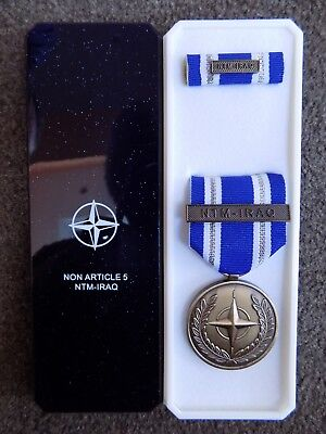 Genuine Nato Medal For Ntm - Iraq In Named Box Of Issue - Excellent Condition