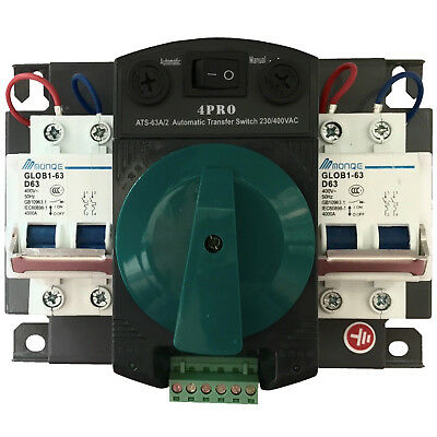 4PRO ATS-63A-2P 50-60Hz Automatic Changeover Transfer Switch