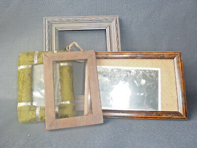 Lot de 4 cadres photo anciens vintage french antique frames