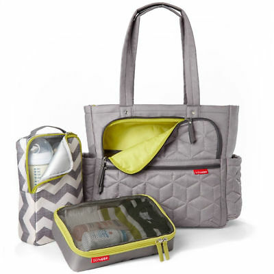 Skip Hop Grey Forma Pack & Go Tote Baby Maternity Changing Bag & Accessories