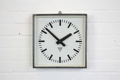 Industrial Czech Factory Clocks By Pragotron Circa 1960s