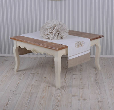 Table living room coffee french country style side table antique white wood new