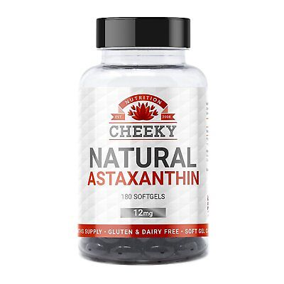 Natural Astaxanthin 12mg, softgels for fast absorption, 180 tablets 6 months .