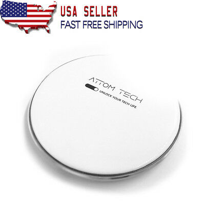 Attom Tech Universal Aluminum 7.5W Qi Wireless Phone Charger for All Qi-Enabled