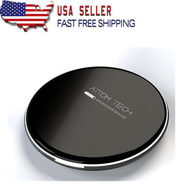 7.5W Qi Wireless Phone Charger for iPhone X & All Qi Charging Phone Attom Tech