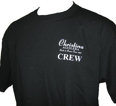 Christina Aguilera 2007 Back to Basics Tour Canadian Concert Local Crew T-shirt