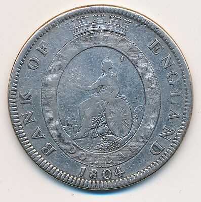 Great Britain Trade Dollar 1804 George Iii Km#tn1 -  Circulated Example