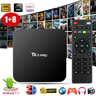 TX3PRO Quad core S905X Android 7.1 Nougat 4K H.265 smart TV BOX Network MINI PC
