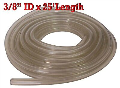 "3/8"" ID x 25"" Clear Fuel Gas Line Hose Roll for Go Kart Motorcycles ATV Choppers"