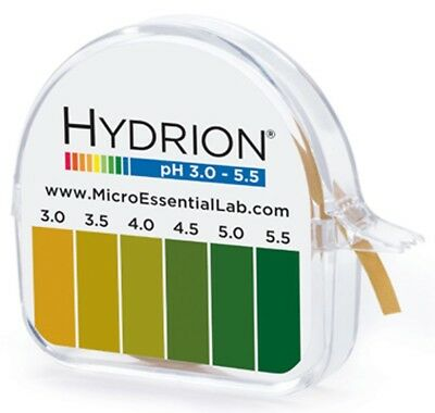 Hydrion Lab 325 Tape pH Paper Strip Range 3.0-5.5 Test Vaginal CM Fertility Help