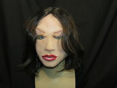 Soft & Sexy Super Soft Latex Mask With Wig By Zagone Studios, UK Stock, Video