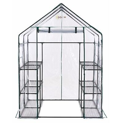 Ogrow Deluxe Walk-in 6-Tier 12-Shelf Portable Greenhouse OG6868-D - NEW