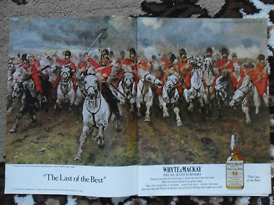 1980 Whyte & Mackay Scotch Whiskey Print Ad Scotland for Ever Lady Butler ART