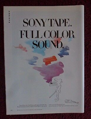 1980 Print Ad Sony Cassette Tape ~ Full Color Sound ART