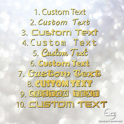 2x Custom Text Personalised Lettering Name Funny Car Glitter Vinyl Decal Sticker