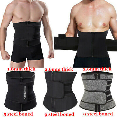 1c9a2b28f0aec Men Waist Trainer Sauna Weight Loss Belt Slimming Body Shaper Tummy Trimmer  Band