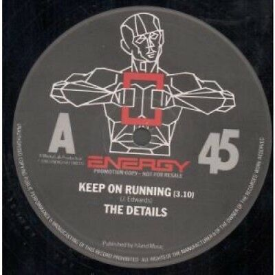 "DETAILS Keep On Running 12"" MAXI VINYL UK Energy 2 Track Promo B/w Run'ins"