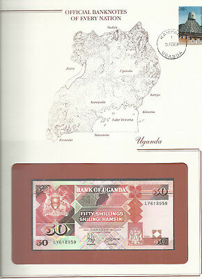 Banknotes of Every Nation Uganda 1994 P 30c 50 shillings UNC Prefix LY