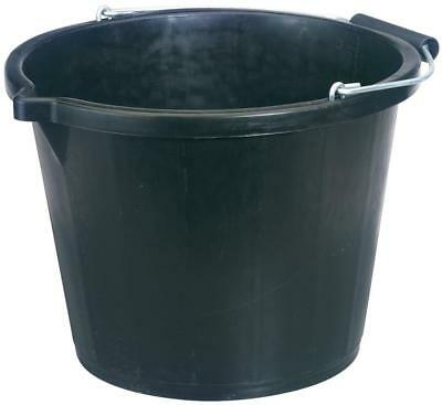 Plastic Cleaning Bucket With Metal Handle 14.8 Litre Water Container Strong