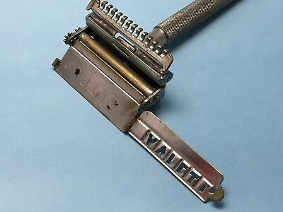 ANTIQUE VALET SAFETY RAZOR, ENGLAND , PATENTED DESIGN , Beautiful vintage