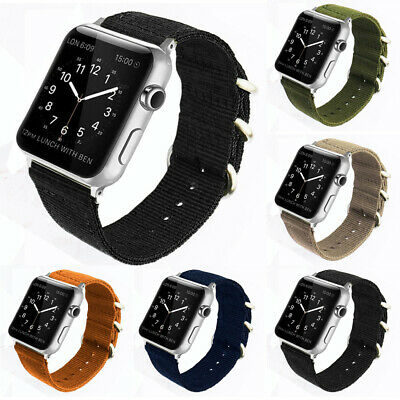 For Apple Watch Replacement Band 42mm Woven Nylon Bracelet iWatch Series 3 2 1