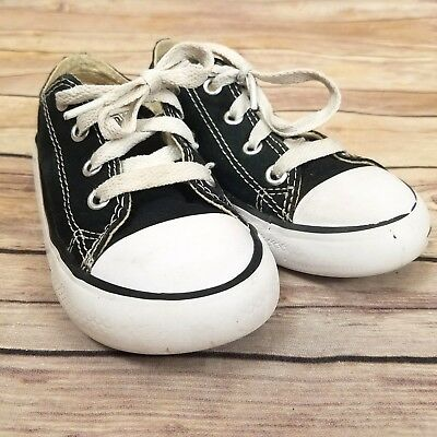 Converse All Star Chuck Taylor Shoes Sneaker Black Low Top Toddler Child 8 Kids