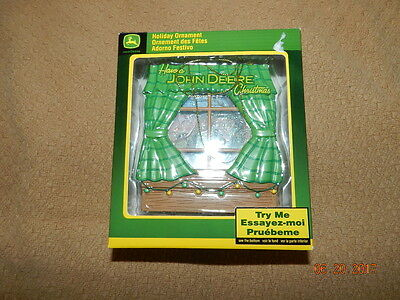 john deere holiday ornament Christmas Windowpane Enesco 2008