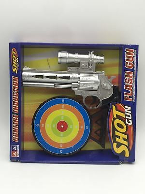 2pcs Toy Gun + Target w/ Flash Sound Powered by Batteries Kids Boys Gun Gift