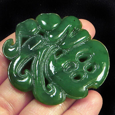 125.5CT 100% Natural Antique Old Hetian Jade Carved Pendant UCZS267