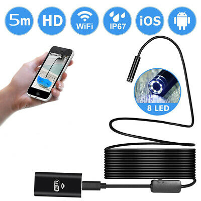 WIFI mobile phone waterproof for 5M Android Apple universal endoscope Camera