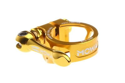 MOWA BSC Road Mountain Cyclocross Cycle Bike Seatpost QR Clamp 31.8mm Gold