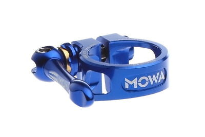 MOWA BSC Road Mountain Cyclocross Cycle Bike Seatpost QR Clamp 31.8mm Blue