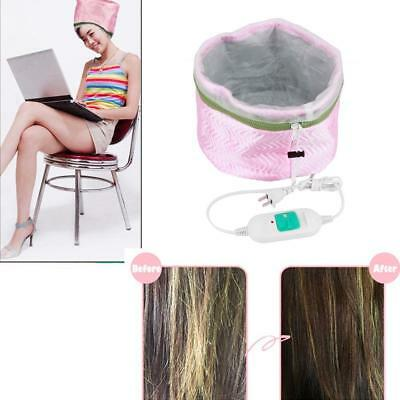 Thermal Heating Treatment Electric Beauty Steamer SPA Nourish Hair Care Cap TA