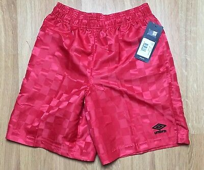 3a91589651 Umbro Youth Checkerboard Shorts Soccer Gym Sports Size Large L Red NWT New