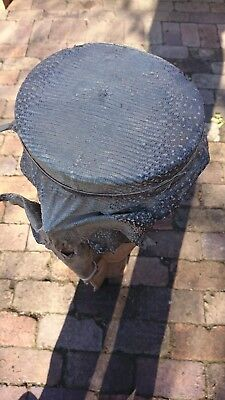 Snake skin long top drum old classic antique music instrument
